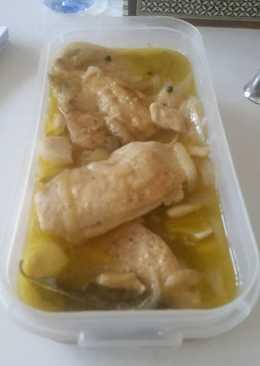 Pechuga de pollo en escabeche
