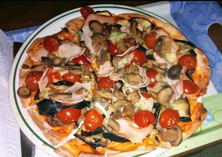 Pizza suuuper fácil con una base muy especial