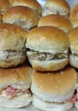 Sandwichitos de atún y de pollo