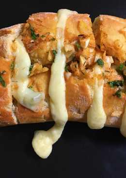 Pan relleno al ajillo