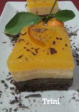 Tarta mousse de naranja y chocolate