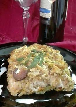 Pastel de repollo con carne picada y chorizo