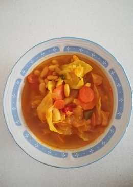 Potaje de vigilia con coles y zanahorias (Olla Gm g)