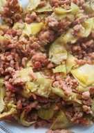 Alcachofas con carne picada