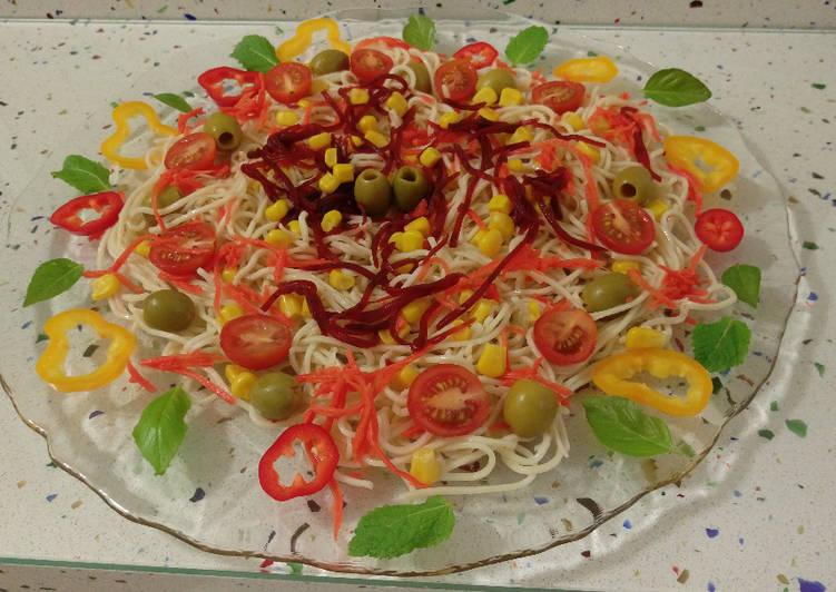 Ensalada fresca de fideos chinos receta de mari j cookpad - Ensalada fresca de pasta ...