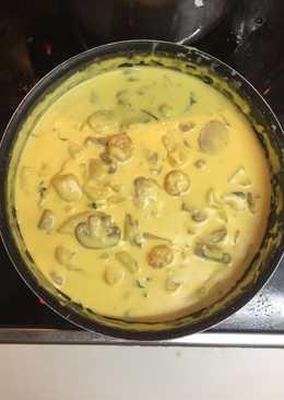 Patatas con nata y champiñones