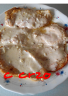 Pechuga de pollo con salsa de queso