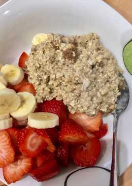 Porridge de avena Desayuno sano 4
