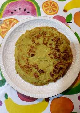 Tortita de aguacate y jengibre con harina de garbanzos