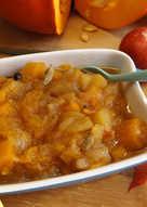 Compota de manzanas y calabaza exquisita y sana