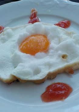 Huevo frito nube
