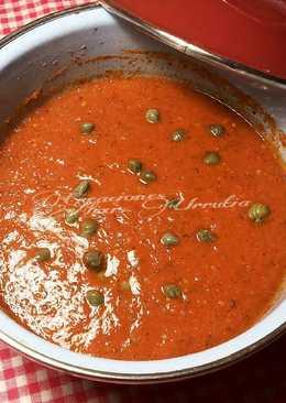 Salsa de tomate frito. especial para carnes a la brasa