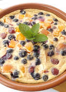 Clafoutis de frutas variadas para no engordar