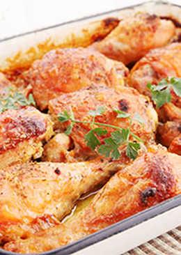 Pollo especiado al horno