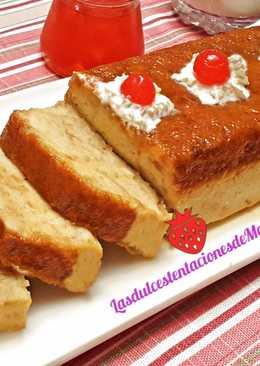 Pudín de pan y leche condensada