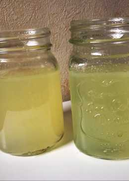 Limonada detox con jengibre y manzana