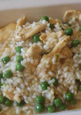 Guisado de pollo y arroz al azafrán