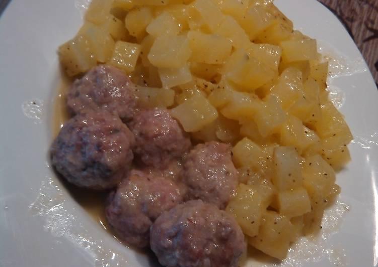 Guisadito de albondigas y patata receta de rociolitran - Albondigas de patata ...