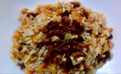 Ensalada de arroz #tupper con frutos secos al Pedro Ximénez