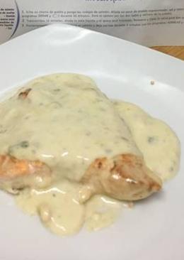 Salmón al queso azul