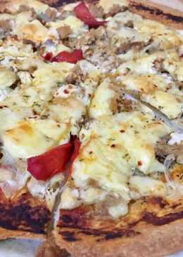 Pizza rápida de atún con masa brisa