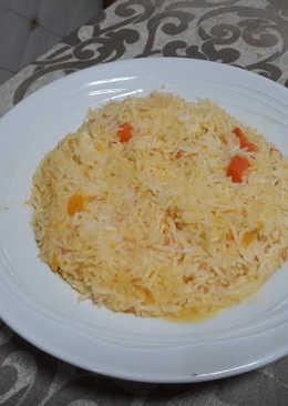 Risotto de arroz basmati y calabaza vegano