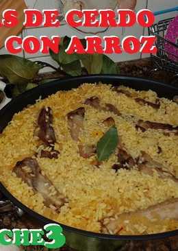 Costillas de cerdo ibéricas con arroz