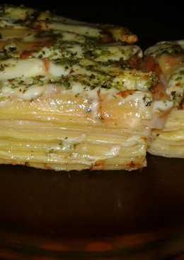 Lasaña paleta y queso para mi 👸