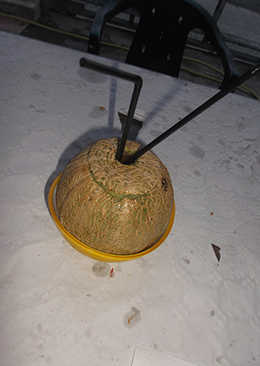 Melon con pajitas y Grand Marnier
