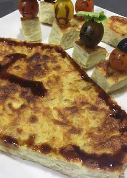 Tortilla de patatas 🥔 para halloween 👻 🎃