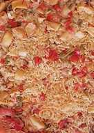Paella con merluza