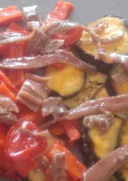 Verdura al vapor con anchoas