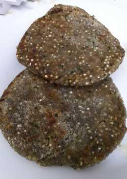 Hamburguesas veganas de quinoa al curry