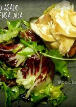 Sobras de Pollo asado con patatas y ensalada