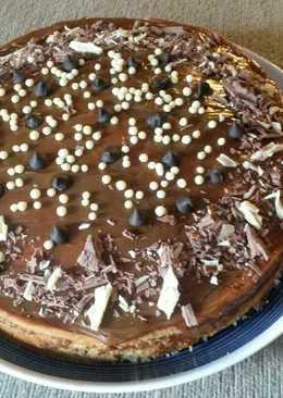 Torta de almendras y trocitos de chocolate