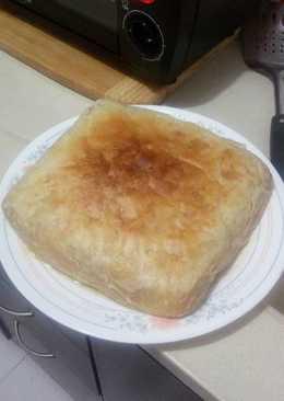 Pastel de pollo con champiñones