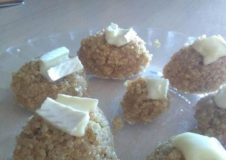Bocaditos de quinoa con queso brie Receta de Sara Corón ...