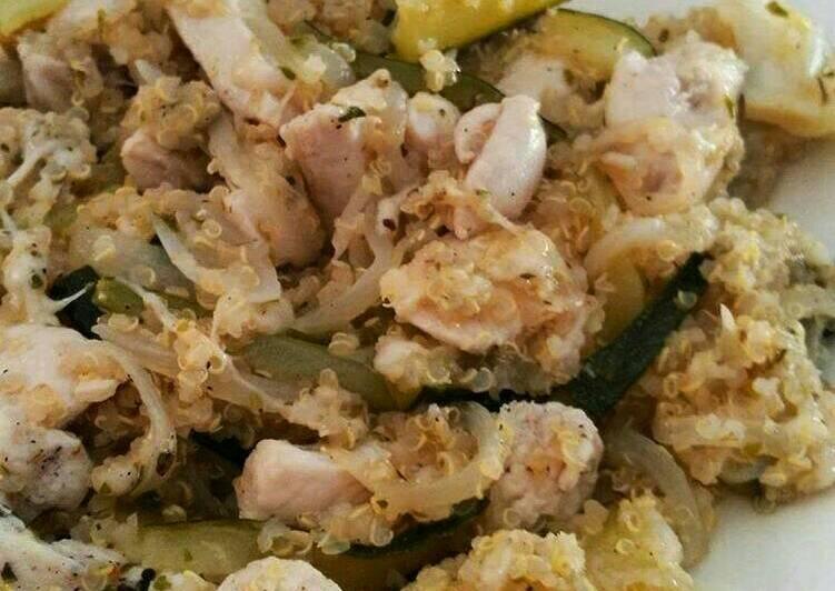 Quinoa con pollo y calabacín