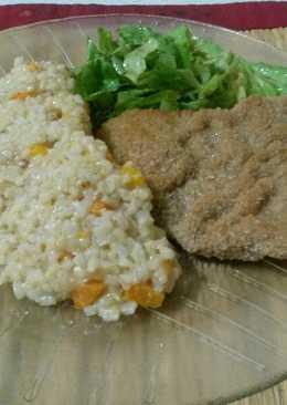 Risotto de arroz yamani con Milánesas de carne