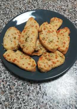 Galletas de queso y semillas de calabaza
