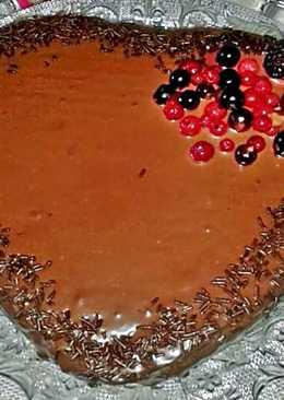 Corazon de chocolate y avellanas