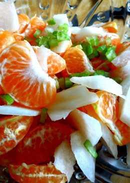 Ensalada de mandarina y jícama con jalapeño