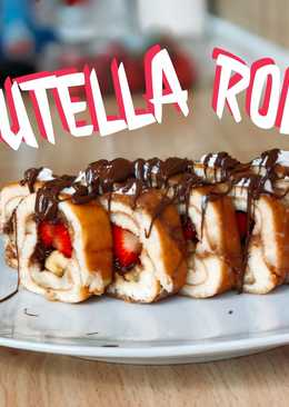 Nutella strawberry roll | epic dessert sushi roll
