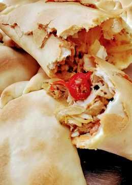 Empanadas de pollo, relleno sin fritura
