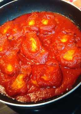 Berenjenas con tomate casero
