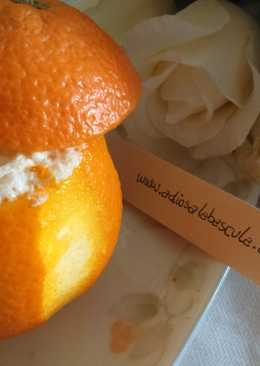 Crema de naranja helada