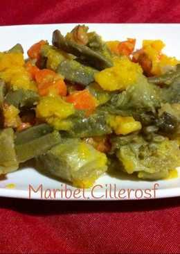 Verduras salteadas con ajos