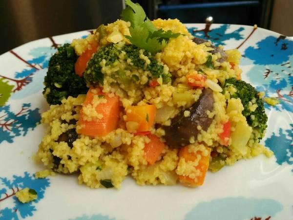 CusCus con verduras al curry