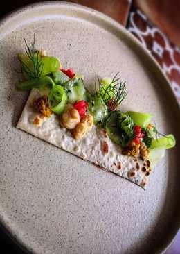Ensalada de Pimiento con Hummus