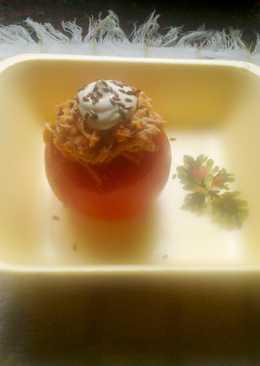 Tomate relleno light (sin arroz) Comida rápida y sana